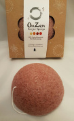 Onzen Konjac Sponge All Natural Japanese Facial Sponge with Red Clay