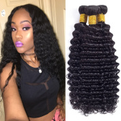 Unprocessed Virgin Malaysian Hair Deep Wave 3 Bundles 18 20 50cm 300g 100% Human Hair Weave Natural Colour Malaysian Deep Wave Hair Extensions Full And Thick
