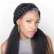Ten Chopstics Hair Kinky Straight Wig Lace Front Human Hair Wigs Brazilian Virgin Hair Wig For Black Women Natural Hairline With Baby Hair Free Part Glueless Full Lace Wig