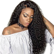 Ten Chopstics Wig 250% Density Human Hair Wigs Full Curly Full Lace Wigs Glueless Brazilian Lace Front Wigs for Black Women Bleached Knots Natural Baby Hair