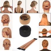 DZT1968 New Girl women Hair DIY Styling Donut Former Foam Synthetic French Twist Magic Tools Bun Maker