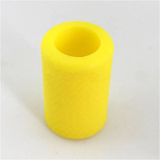 HoriKing Tattoo Supply Non-Slip Tattoo Grip Cover Wholesale 2pcs Import Soft Silicone Tattoo Rubber Grip for 22mm-25mm Tattoo Grip Yellow Tattoo Accessories Supply