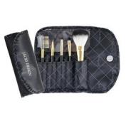 Jacki Design Vintage Allure 5 Pc Make Up Brush Set And Bag, Black