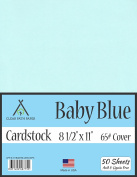 Baby Blue Cardstock - 22cm x 28cm - 29kg Cover - 50 Sheets