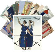 Postcard Pack 24pcs Andre Marty Vintage French Art Deco Illustrations