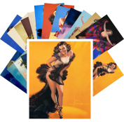 Pinup Postcard Pack 24pcs Vintage Sexy Girls Night Dance Armstrong Magazine