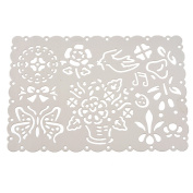 Souarts Flower Bird Steel Drawing Ruler Painting Stencil Graphics Stencils for Card Craft