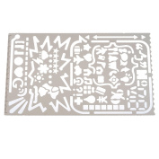 Souarts Cartoon AnimationStainless Steel Drawing Ruler Painting Stencil Graphics Stencils