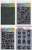 Ranger Graphic Triangular Shapes Stencil Bundle 4 Items