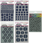 Ranger Stars-Circles Graphic Shapes Stencil Bundle - 5 Items