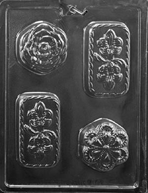 F124 Flower Asst Soap Bar Mould