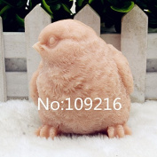 Creativemoldstore 1pcs 3D Bird with Eyes Right (zx204) Food Grade Silicone Handmade Soap Mould Crafts DIY Mould