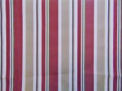 Outdoor Stripe BURGUNDY Waterproof Canvas fabric 150cm 600 Denier 100% Nylon Durable Awnings Campers Outdoor Cushions 150cm Wide Sold By Yard