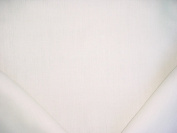 163RT13 - Soft White / Cool White 100% Linen Rustic Basket Weave To The Trade Designer Upholstery Drapery Fabric - By the Yard
