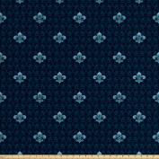 Fleur De Lis Decor Fabric by the Yard by Ambesonne, Antique Pattern Royalty History Royal Arms of France Symbolic Stylized Art, Decorative Fabric for Upholstery and Home Accents
