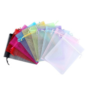 Bestsupplier 50 PCS 13cm x 18cm Drawstring Organza Jewellery Favour Pouches Wedding Party Festival Gift Bags Candy Bags