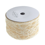 Homeford Faux Burlap and Lace Ribbon, 10 Yards
