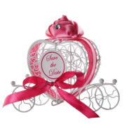 Voberry® 1pc Sweet Candy Boxes Romantic Carriage Chocolate Box Wedding Party Favours