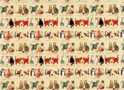 "Alex Clark Art "" Charismatic Cats"" Gift Wrapping Paper 2 Sheets 50cm x 70cm"