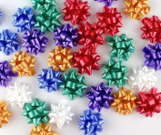 Mini Metallic Confetti Bows, 2.5cm Gift Wrap Bows for Christmas, Holidays and Birthdays by Emerald Craft & Hobby