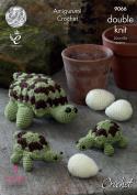 King Cole Amigurumi Crochet Pattern - to make Large or Baby Tortoise & Eggs Pricewise DK