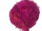 Recycled Sari Silk Super Bulky Yarn - Pink