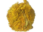 Recycled Sari Silk Super Bulky Yarn - Yellow