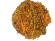 Recycled Sari Silk Super Bulky Yarn Mustard