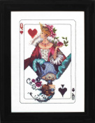 Royal Games Queen of Hearts LINEN Beaded Counted Cross Stitch Kit by Nora Corbett Mirabilia Designs MD150 (Bundle