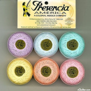 "Presencia Finca Perle Cotton Thread Sampler Pack, Size 5 (10 gramme) - for sashiko, embroidery, and quilting - ""PASTEL"" Collection"
