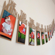 Vibola 1-12 Month baby Photo holder Kids Birthday Gift Decorations Photo Banner Monthly Photo Wall baby Photo folder 3D Sticker(Not including photos)