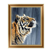 Wivily Beautiful Tiger Full Drill 5D DIY Diamond Painting Rhinestone Pictures Of Crystals Embroidery Kits Arts, Crafts & Sewing Cross Stitch