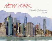 New York Desk Calendar 2018