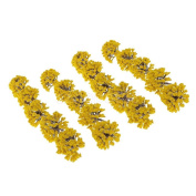 20pcs Painted Trees Model Train Garden Forest Scenery 1:75 HO SA80-Yellow