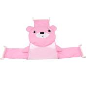 Jili Online Kids Baby Bath Seat Support Adjustable Bathtub Bathing Shower Net Cradle Safe - Pink 1