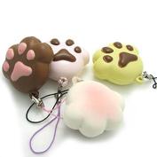 YABINA 1pc Stress Mini Bear Paw Bread Scented Slow Rising Toy Charms Soft Squishy Phone Key Chain Straps