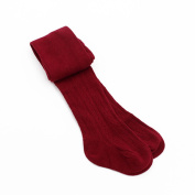 M-Egal Infant Baby Girl Cotton Warm Tights Leg Warmers Pantyhose Baby Stockings Anti skid Tights Wine red 2-4 years old