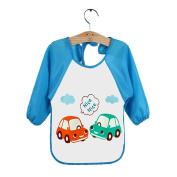 M-Egal Waterproof Newborn Baby Bibs Cartoon Long Sleeve Toddler Feeding Painting Cloths #3