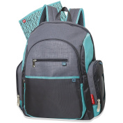 Fisher Price Backpack Nappy Bag - Fastfinder Colorblock in Grey/Teal