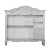 Evolur Aurora Hutch/ Bookcase, Akoya Grey Pearl