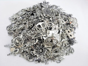 Incredible art 80-Piece Silver Pewter Charms Pendants Mega Mix DIY for Jewellery Making and Crafting,100gm, Silver