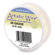 Artistic Wire 22-Gauge Tarnish Resistant Silver Wire, 0.1kg