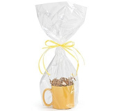 A1BS Clear Cello Cellophane Bags Gift Basket Package Flat Gift Bags