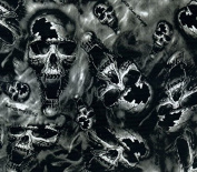 Hydrographics Film - Water Transfer Printing - Hydro Dipping -Fang Skulls - 1 Metre
