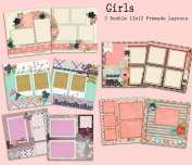 Girls Scrapbook Kit - 5 Double Page Layouts