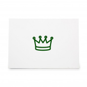 Crown Small Size Simple Royalty Style 8999, Rubber Stamp Shape great for Scrapbooking, Crafts, Card Making, Ink Stamping Crafts