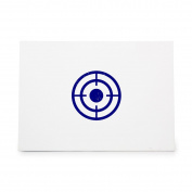 Target Aim Aiming Bullseye Crosshair Style 4354, Rubber Stamp Shape great for Scrapbooking, Crafts, Card Making, Ink Stamping Crafts