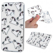 KASOS Huawei P8 Lite 2017 Case, Unicorn Cute Design Running[Ultra Thin] Classical Colourful Luxury Pattern Lightweight Cover Soft Flexible [TPU Bumper Silicon Gel ] Perfectly Fit Shell Drop Scratch Shock Protection Skin
