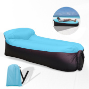 Waitiee waterproof portable Inflatable Sofa with Integrated Pillow, Air Sofa Inflatable Lounger, Air Lounger Inflatable Couch, Air Bed Beach Lounger with Storage Bag for Travelling, Camping, Beach, Park, Backyard