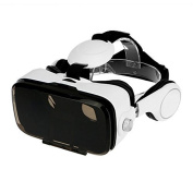 Virtual Reality Headset 3D VR Glasses with Headphones for iPhone & Android Smartphones
